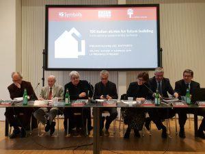 La fibra di carbonio tra le 100 migliori storie dell'edilizia del futuro - tavolo relatori